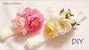 Милая Повязка на Голову для Девочки с Цветами из Лент