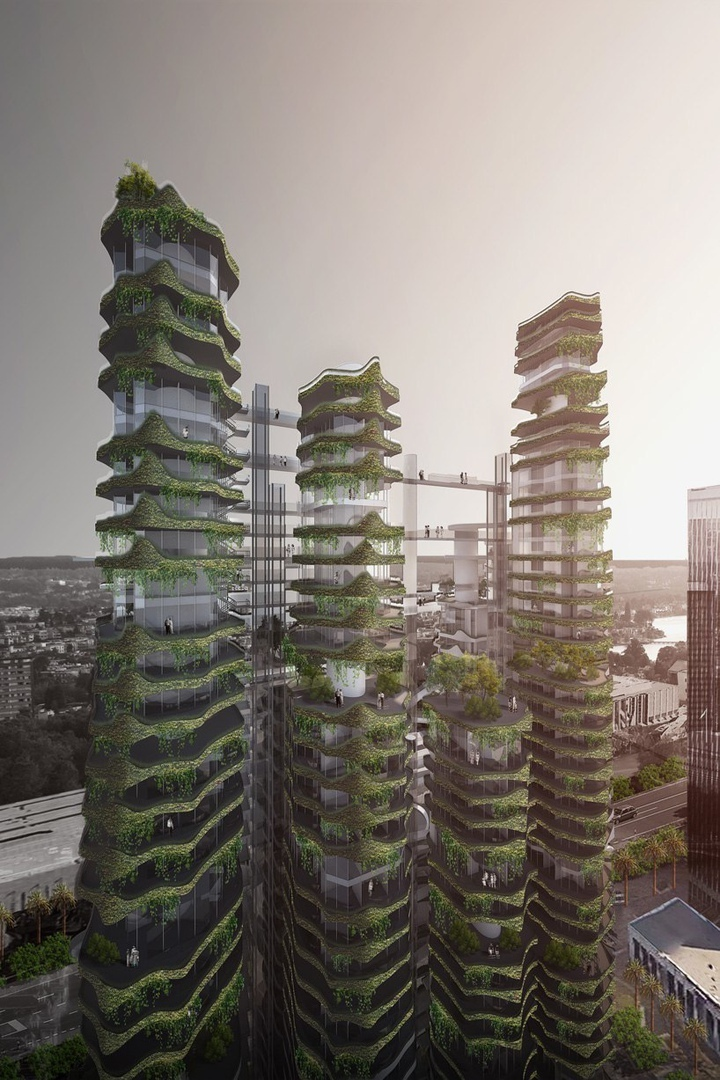 MAD envisions cloud corridor residences for los angeles