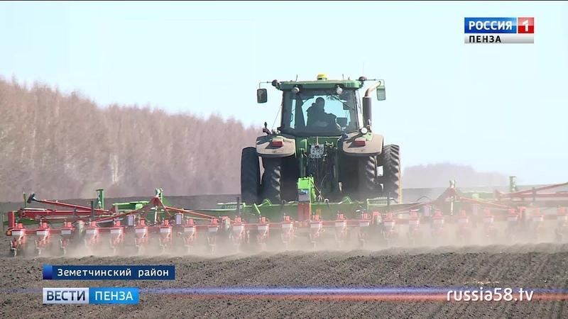 Весенние полевые работы в Пензенской области начались с опережением на две недели