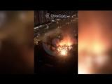 Ночной пожар на Лермонтовском проспекте в Москве