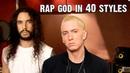 Eminem Rap God Performed In 40 Styles Ten Second Songs