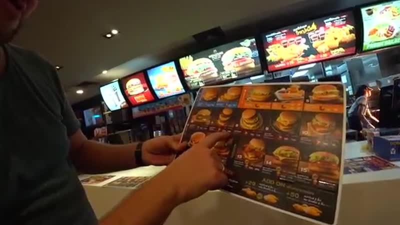 Макдональдс-в Паттайе. Цены на еду в Таиланде 2018. Путешествие в Таиланд своим-xodom-tai-ekzo-kulinar-weco-scscscrp