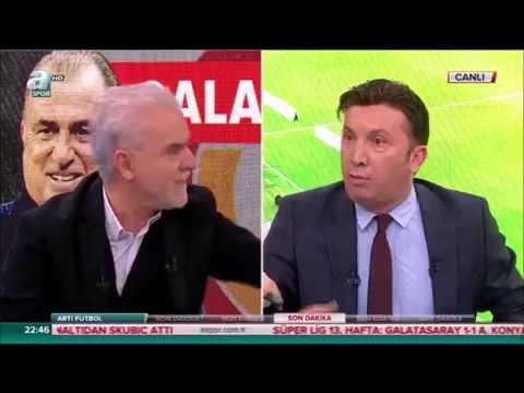 Galatasaraylı Evren Turhan Beşiktaşlı Turgay Demir'e 'Ne diyorsun sen lan'diyor canlı yayında kavga
