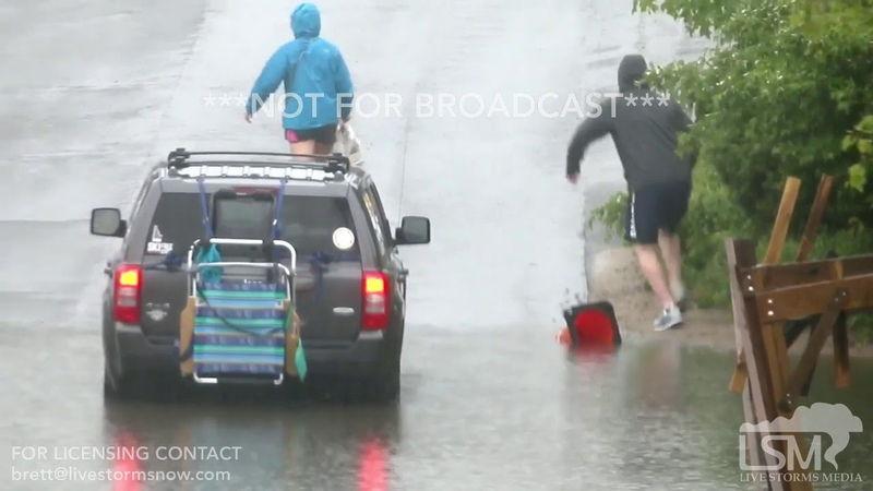 06 13 19 Chatham MA Motorist Stranded In Flooded Roadway Cape Cod Heavy Rains