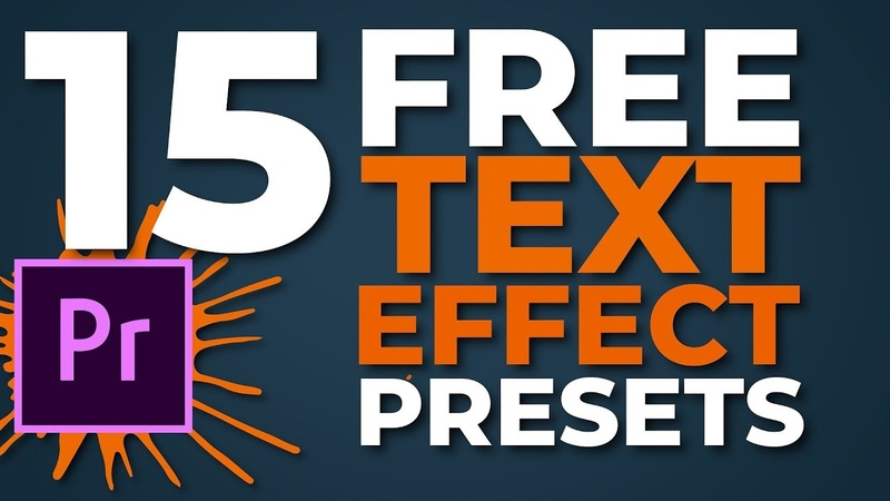 Text and Image animations effect | preset pack 2 for Premiere Pro15 бесплатных текстовых и графических анимаций