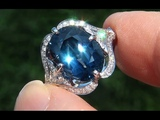 GIA Certified UNHEATED VVS1 Natural Blue Sapphire Diamond PLATINUM Engagement Ring - A141606