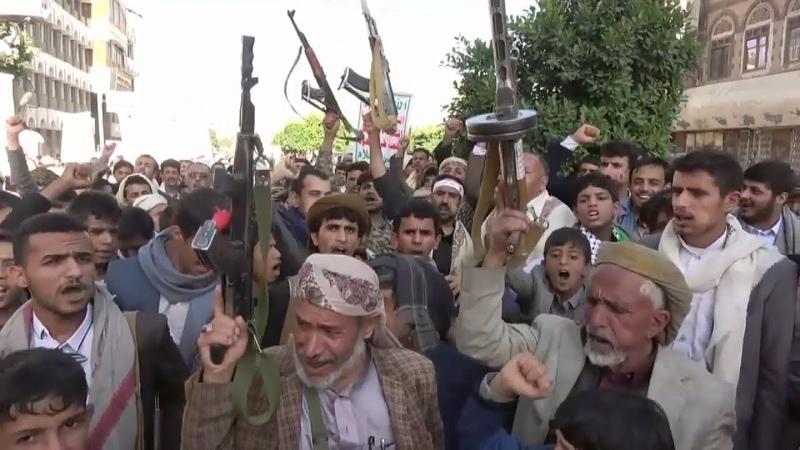 Miles de yemeníes protestan contra Arabia Saudí