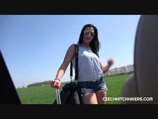 [czechhitchhikers] asdis loren - stopped the driver. she paid for her co-driving with her hot body.