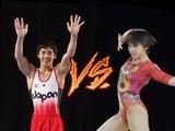 Mai Murakami Vs Kenzo Shirai doing Mai Floor routine  Who did it better
