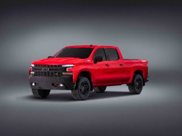 Chevrolet revealed the first ever full size LEGO® Silverado