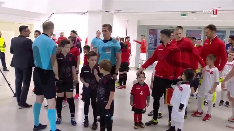 Arnavutluk 0-2 Türkiye -- 2020 UEFA Avrupa Futbol Şampiyonası Elemeleri H Grubu ilk maçı 1. devre
