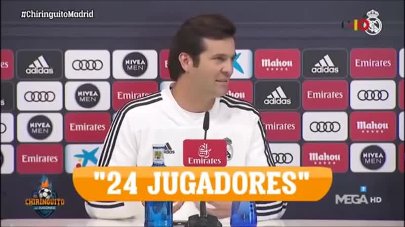 ZIDANE and SOLARI, like two drops of water at a press conference