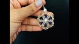Unique Flower Beaded Earrings or Pendant.How to make beaded earrings. DIY craft
