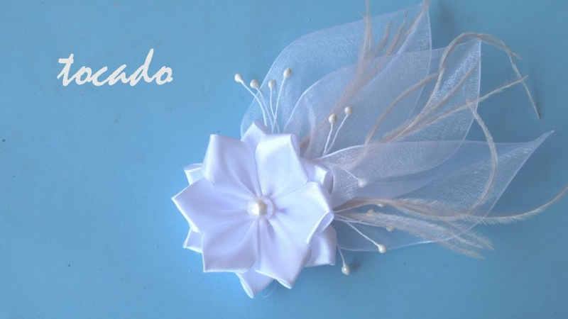 DIY Tocado novia - Headdress bride - غطاء العروس - 新娘头饰 - головной убор невесты