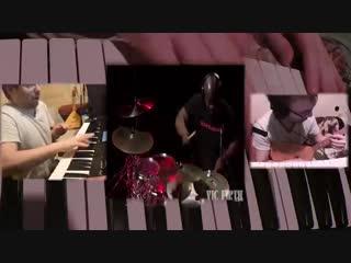 Валерий Степанов и барабанщик Mariah Carey, Chris Coleman.