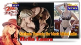 Stefania Ferrario model for black bikini suits