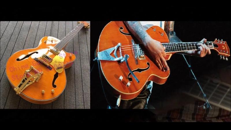 Электрогитара Orange Brian Setzer с Алиэкспресс Демонстрация звука