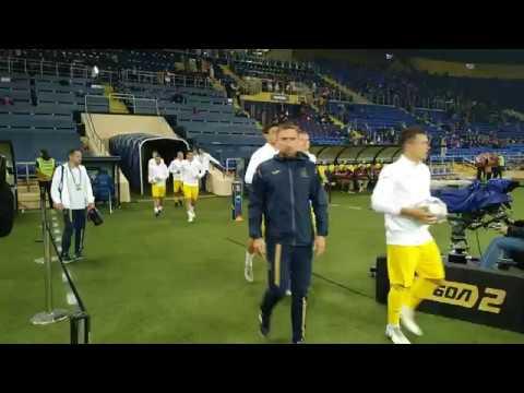 Украина — Чехия: предматчевая разминка команд на «Металлисте»