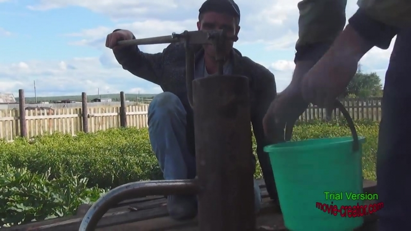 Скважина на воду без помощи буровой установки ютуб