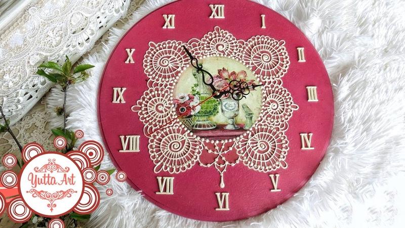 Часы своими руками. Мастер-класс по декору настенных часов в технике декупаж. DIY роспись часов