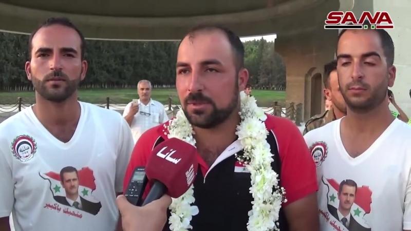 النقيب الجريح علي محسن علي ينجز مسيره في رسالة تؤكد قدرة السوريين على تجاوز كل التحديات
