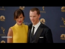 Benedict and Sophie posing for the pics on the Emmy golden carpet.