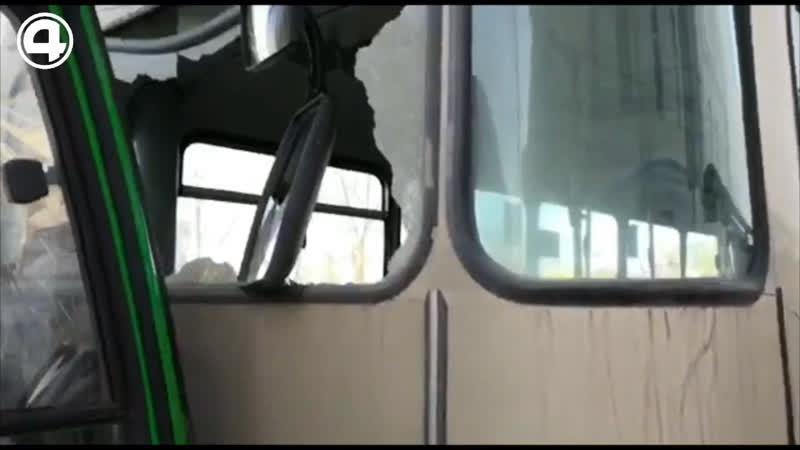 Столкнулись автобусы
