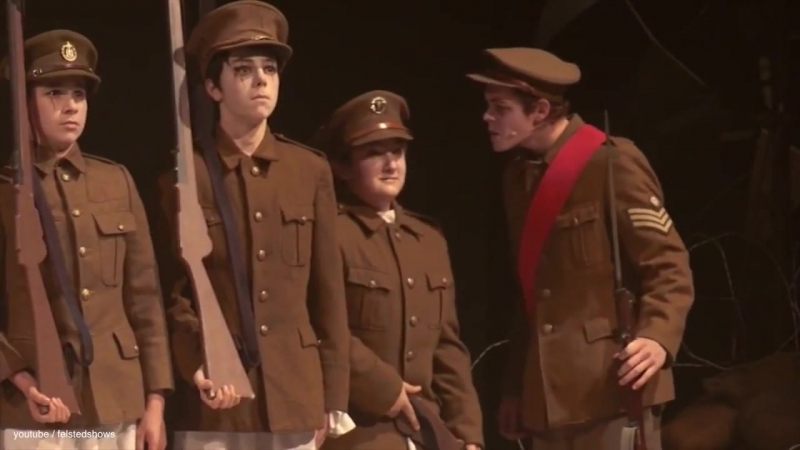 Oh! What A Lovely War The Musical [Felsted School] - boys pretends army