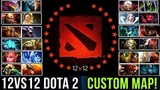 hOlyhexOr Playing 12v12 Custom Map Dota 2 vs TOP Rank Immortal Players - Dota 2