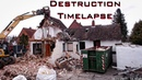 Abriss des alten Hauses Demolition of the old house Timelapse HD
