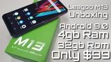 Распаковка LEAGOO M13 - Android 9.0 4GB Ram 32GB Rom