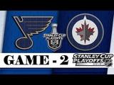 St. Louis Blues 43 Winnipeg Jets Apr.12, 2019 Game 2 Stanley Cup 2019