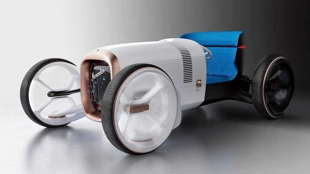 Ретро-концепт Vision Mercedes Simplex от Mercedes-Benz Фирма Mercedes-Benz поделилась изображениями концептуального родстера в ретростиле Vision Mercedes Simplex. Силуэт прототипа повторяет