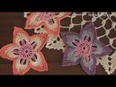 Crochet Flower 8 Tutorial Part 1 irish crochet flowers free patterns