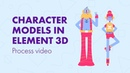 AE Element 3D Modeling a character with primitive shapes