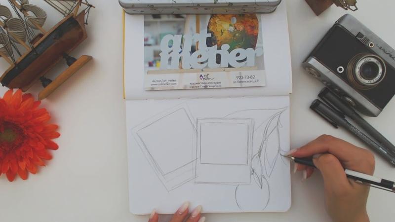 Иллюстрация маркерами Тревел скетч Мальта