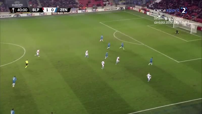 Лига Европы Славия - Зенит 2:0 обзор 13.12.2018 HD