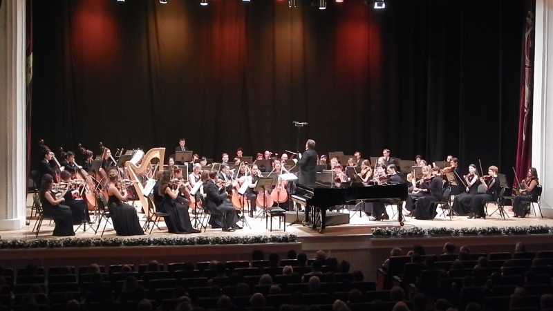 Рязанский губернаторский симфонический оркестр. И.Брамс. Вариации на тему Гайдна для оркестра. Фрагмент.