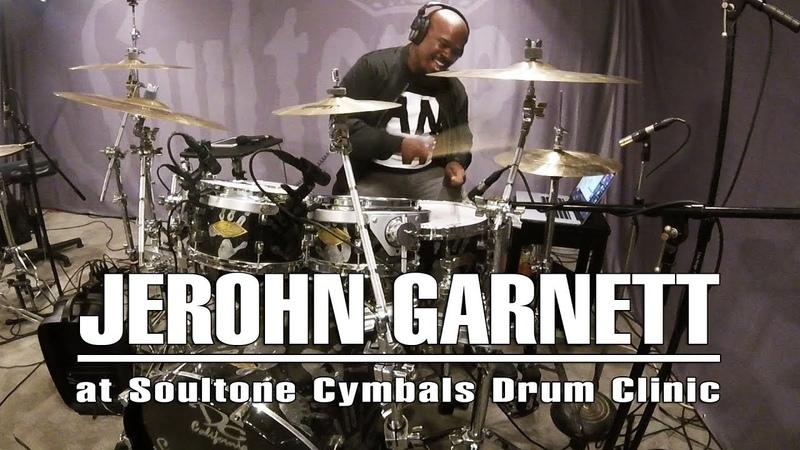 Jerohn Garnett at Soultone Cymbals Clinic, May 2018