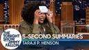 5 Second Summaries with Taraji P Henson
