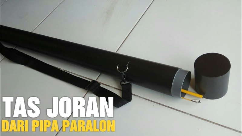 Making Fishing Rod Carrier Handmade From PVC