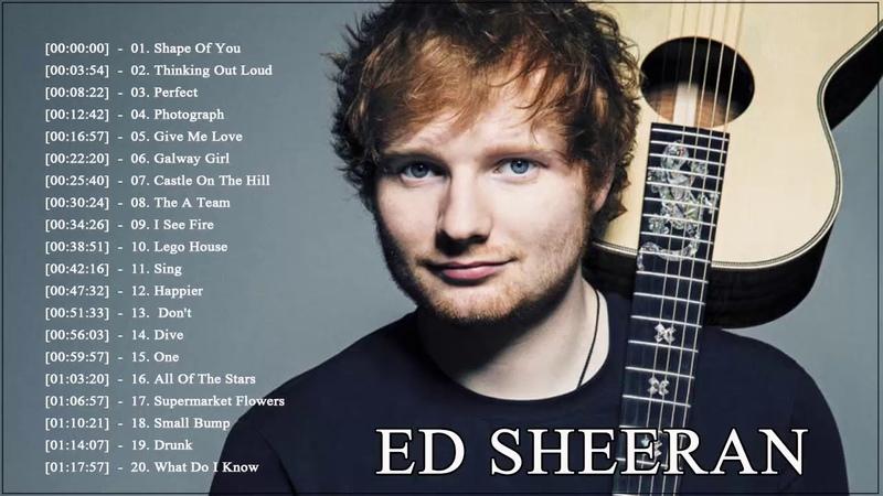 Las Mejores Canciones De Ed Sheeran Grandes Éxitos Álbum 2018