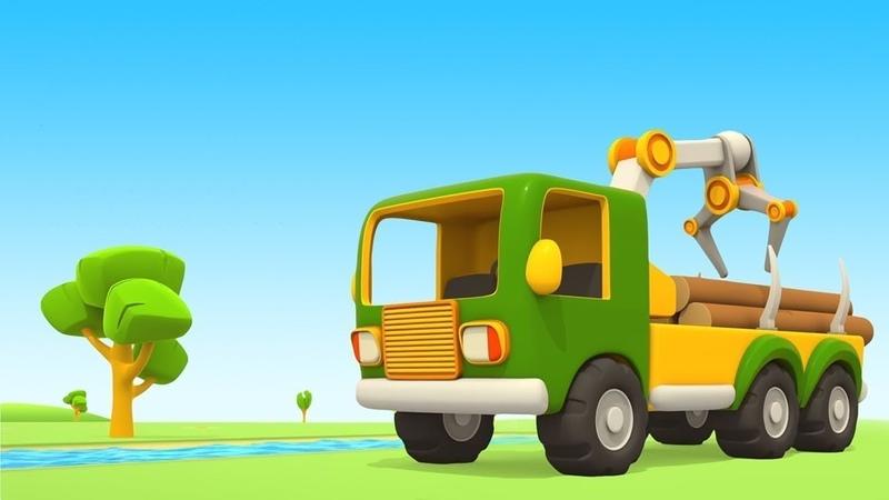 Vehículos de servicio. Un camión especial. Dibujos animados español.