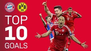 FC Bayern's Top 10 Goals vs. Borussia Dortmund