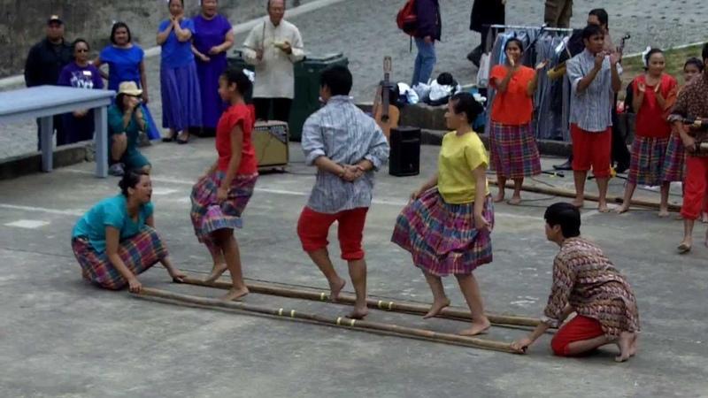 Filipino Tinikling Dance By Sinag-Tala Group Kulintang Music Dance