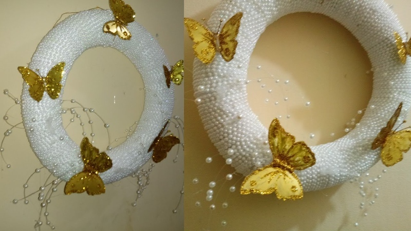 Corona navideña blanca - white Christmas wreath
