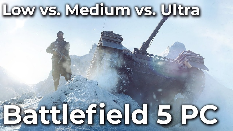 Battlefield 5 – PC 4K Low vs. Medium vs. Ultra Frame Rate Test Graphics Comparison