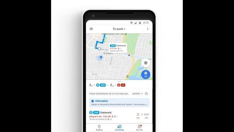 Гугл-карты в действии
