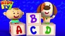 ABC Song | Little Eddie Cartoon | Nursery Rhymes Baby Songs For Children