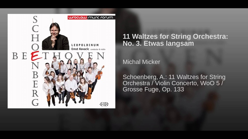 11 Waltzes for String Orchestra: No. 3. Etwas langsam